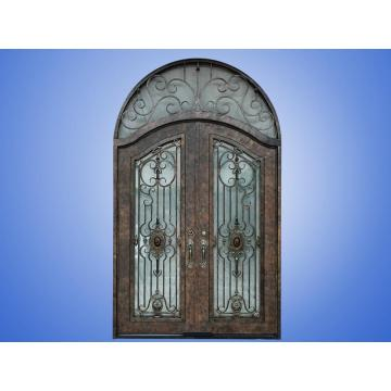 Wrought Iron Door with Sidelights