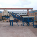 Low cost mobile ready mixed concrete batching plant