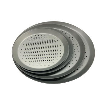 "16"" Perforated Heavy Weight Aluminum Cutter Pizza Pan"