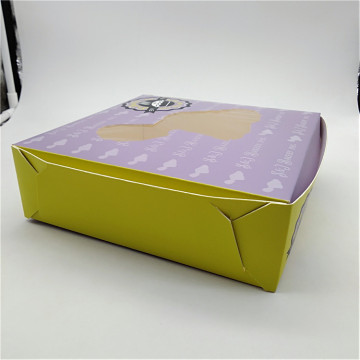 Paperboard Window Pie Box with PE Lock Corner