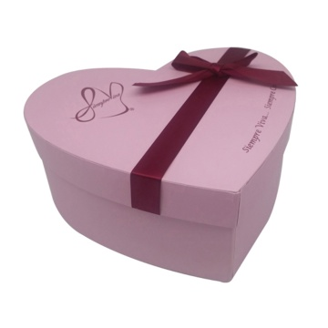 Customized Waterproof Heart Shaped Flower Paper Box