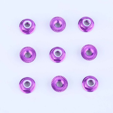 Silver Color Hexagon Nuts 4mm serrated wheel nut