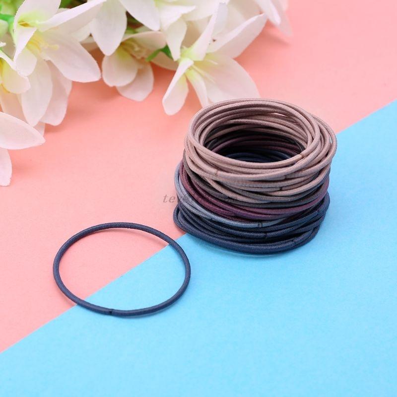 20/50/100Pcs 5CM Women Girls Sport Running Rubber Band Hair Rope Nylon Elastic Scrunchy Korean Style Simple Ponytail Holder