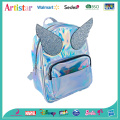 pink, blue angel wings laser backpack