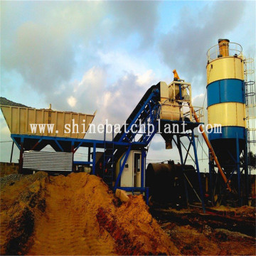 35 Ready Mixed Mobile Concrete Batching Plant