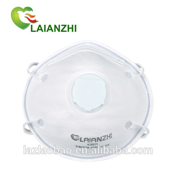 KN95 Disposable Cup Shape Moulded Non-woven Valved Mask