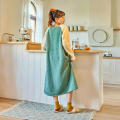 Autumn and winter ladies small fresh casual loose female warm coral velvet long radish embroidery nightdress SJ069