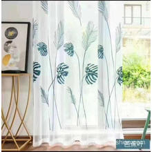 Big Pattern Leaf Design Embroidery Sheer