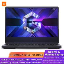 Xiaomi Redmi G Gaming 16.1 Inch Laptop 10th Generation Intel Core i5/i7 GTX 1650/1650Ti GPU 16G DDR4 512G SSD 60Hz/144Hz Notbook