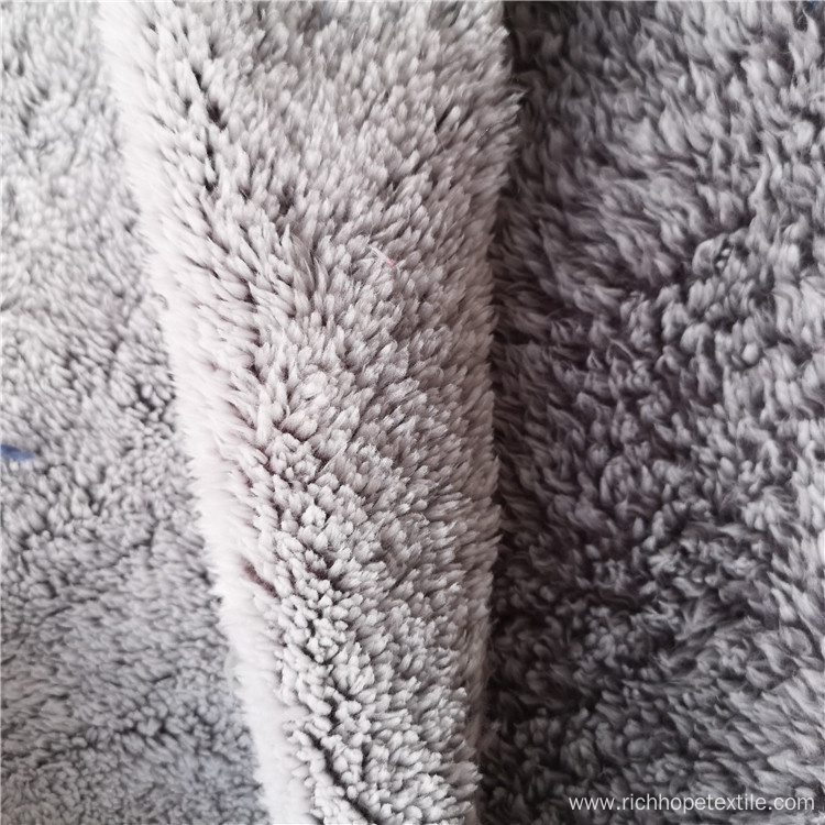 Double Side Solid Long Pile Shimmer Fabric
