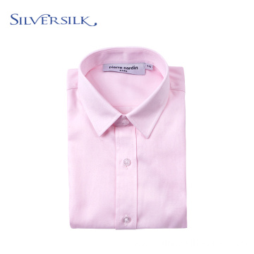 Custom Brand Preppy Children School Blouse Pink Dress