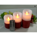 Color Changing LED Candle Red Color
