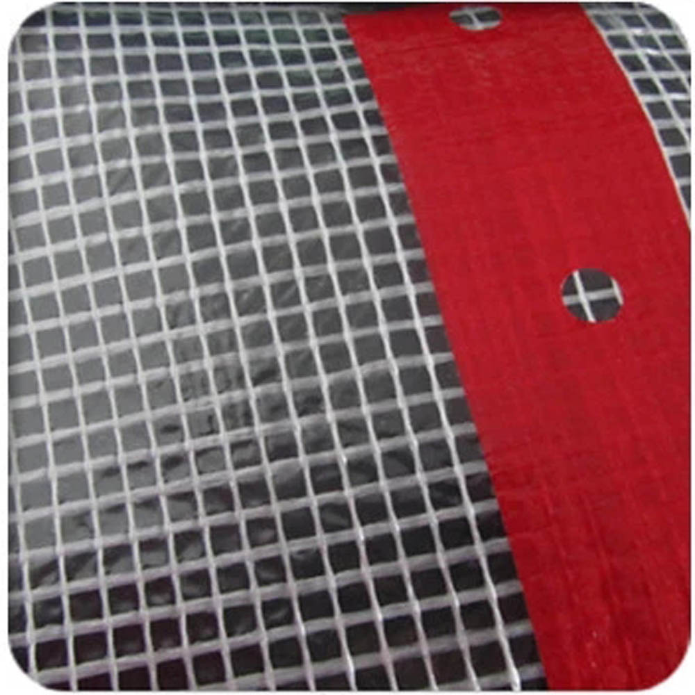 Red Eyelet Band Scaffold Sheeting Cover