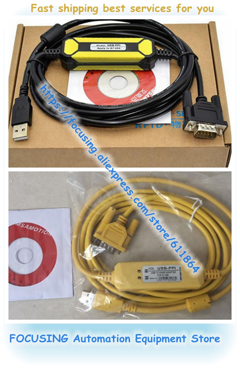 New PLC Cable USB-PPI Programming Cable PC USB To RS485 Adapter For S7-200 PLC S7 200 USB PPI Cable