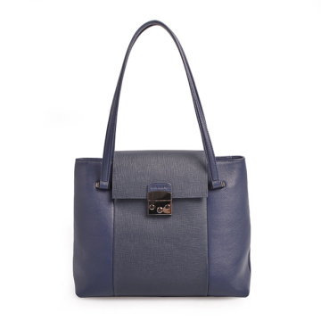 Darley Medium Polly Soft Leather Blue Shoulder Bag