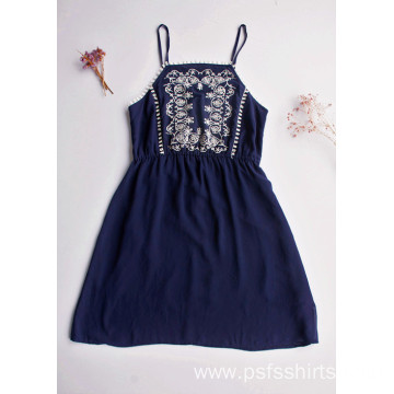 Women Mid-length Suspender Dress