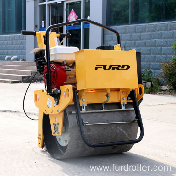 Manual vibrating road roller double drum roller compactor roller compactor machine FYL-D600
