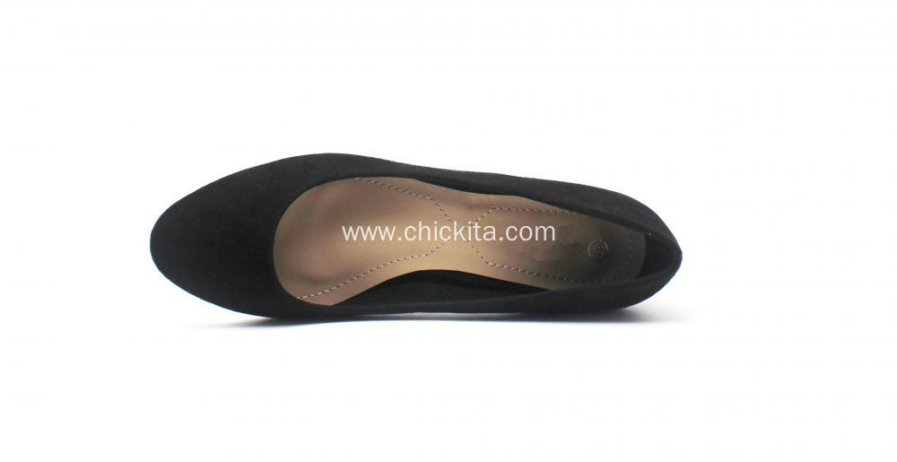 Ladies Heel Shoes Round-headed Style