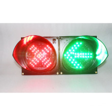 red cross green signal LED warning traffic light
