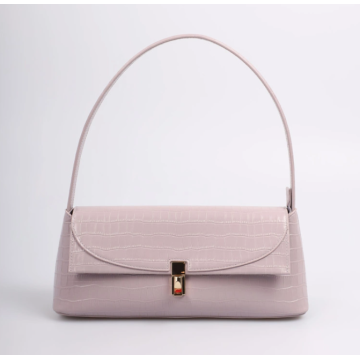 Light purple shoulder bag for shopping