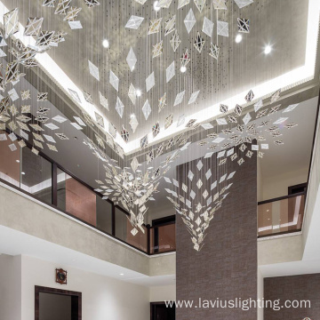 Project villa hotel lobby  led chandelier light