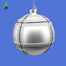 Silver Onion Shaped Christmas Tree Glass Ornaments