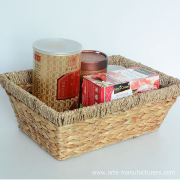 Rectangular Water Hyacinth Storage Basket