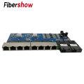 POE 8 RJ45 2 SC fiber Gigabit Ethernet switch Fiber Optical Single Mode UTP Port 10/100/1000M Board PCBA