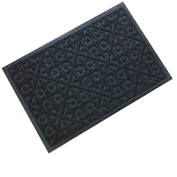 Wholesale eco-friendly embossed design coil door mat