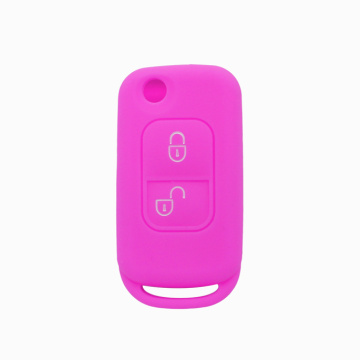 Benz Fold 2buttons silicon key cover