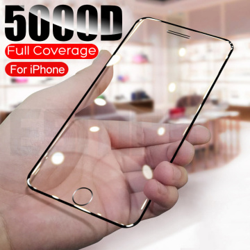 5000D Full Protective Tempered Glass For iPhone SE 2020 6S 7 8 Plus Glass Screen Protector on iphone6 iphone7 iphone8 Film Case