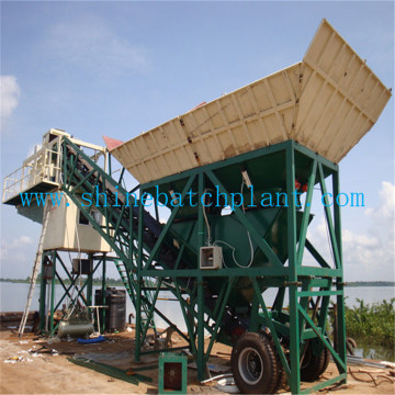 Wet Mobile Concrete Batching Machinery