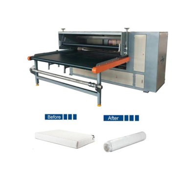 Mattress packing machine with simple operation