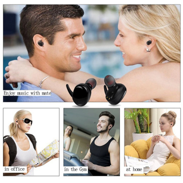 TWS Bluetooth V5.0 Earphone Wireless Earbuds Tanpa Wayar