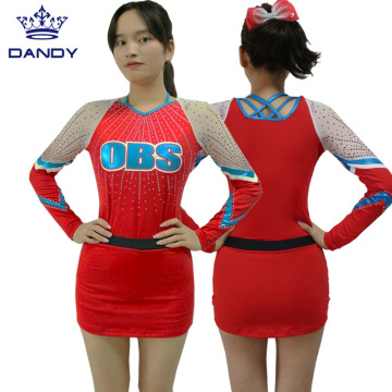 Custom Red Cheerleading Uniform
