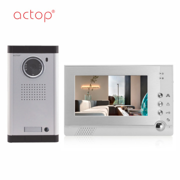 7 inch 4 Wire Doorphone Video Intercom
