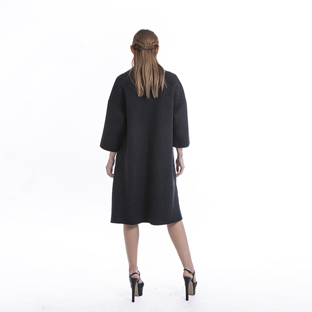 Black simple cashmere overcoat