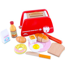 Kids Pretend Play Sets Simulation Wooden Pop-Up Early Learning Toasters Bread Maker Play House Nutrition Breakfast Toy Gifts