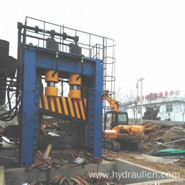 Heavy-Duty Scrap Pipe Tube Plate Guillotine Shear