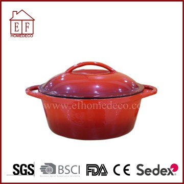 Round  Enamel Cast Iron Cookware with Lid