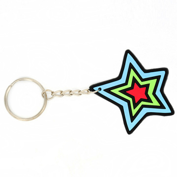 PVC souple 3D Cartoon Star chaînes porte-clés promotionnels