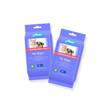 Non-irritating Pet Skin Care Cleansing Wet Wipes