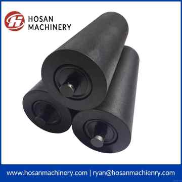 coal mine rubber conveyor belt idler roller