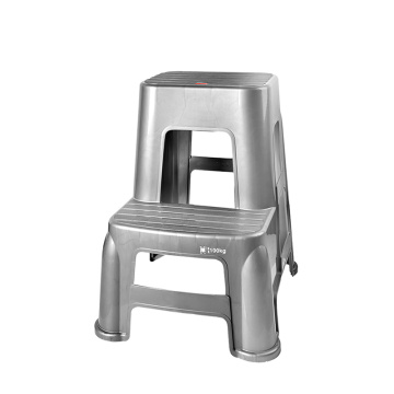 2-Step Plastic Stool Ladder Chair for Garage Depot