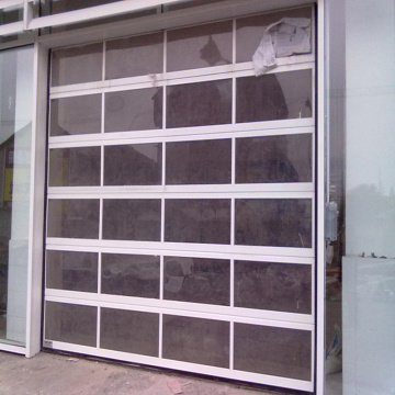 Transparent Sectional Acrylic Sliding Garage Door