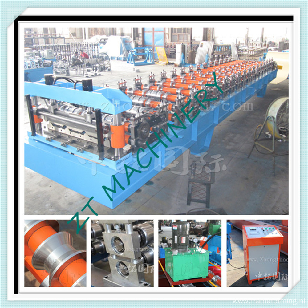Boltless roofing machine
