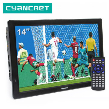 LEADSTAR D14 14 Inch HD Portable TV DVB-T2 ATSC Digital Analog Television Mini Small Car TV Support MP4 AC3 HDin Monitor for PS4