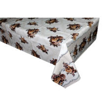 Poppy Swirl PVC Vinyl Wipe Clean Oilcloth Tablecloth