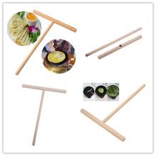 Kitchen Wooden Spreader Stick Tools T-shaped Kitchen Accessories Crepe Maker Pancake Batter 12*17cm