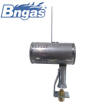 Stainless steel short gas burners with bracket